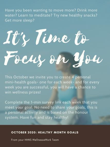 Healthy Goals October Challenge Poster