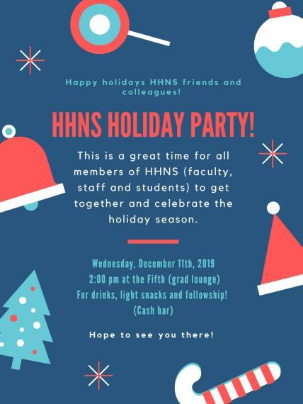 HHNS Holliday Party Poster