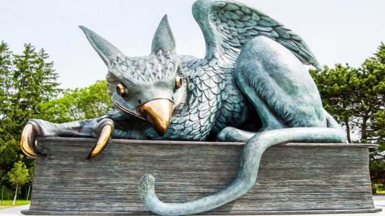 An image of the University of Guelph Gryphon Sculpture