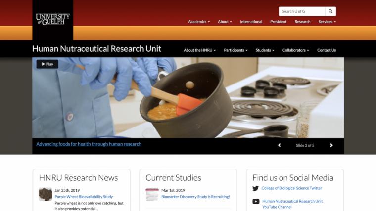 A screenshot of the HNRU's website