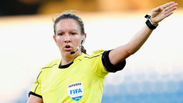 A photograph of Referee Marie-Soleil Beaudoin