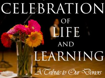 Celebration of life and learning - a tribute to our donors - photo gallery