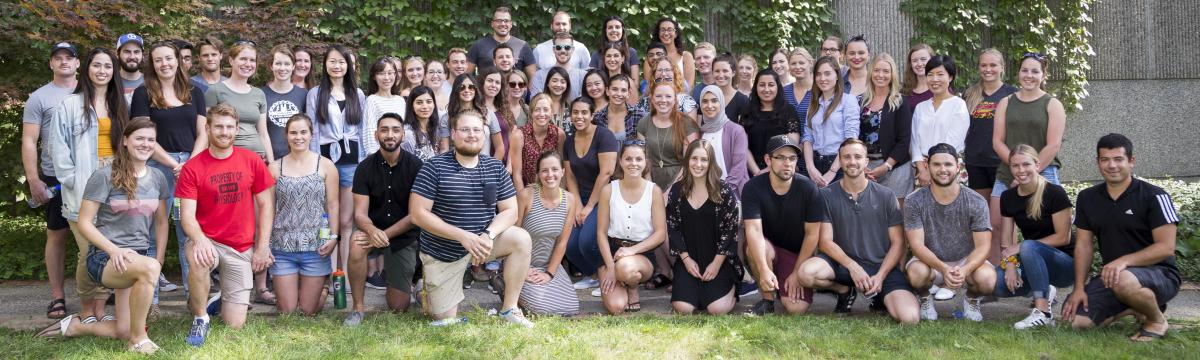 A 2018 photograph of the Graduate students in HHNS
