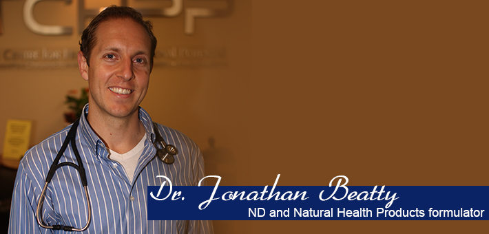 2003 NANS Alumnus Dr. Jonathan Beatty, ND and Natural Health Products formulator.