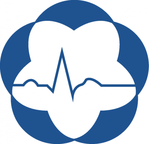 Original flower and heart beat logo for Human Nutraceutical Research Unit