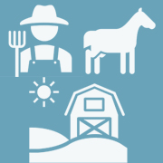 Farmer, horse and farm clipart for Agriculture & Veterinary Safety