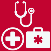 Cross, first aid kit and stethoscope clipart for Incident Reporting