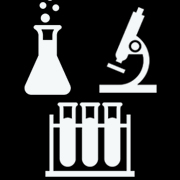 Beaker, microscope and test tube clipart for Laboratory Safety & Hazardous Waste