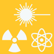 Radiation symbol, atom and laser symbol clipart for Radiation safety