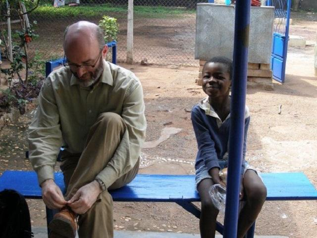 Wayne Johnston in Ghana