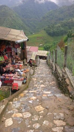 Sapa village of Cat Cat - stone path