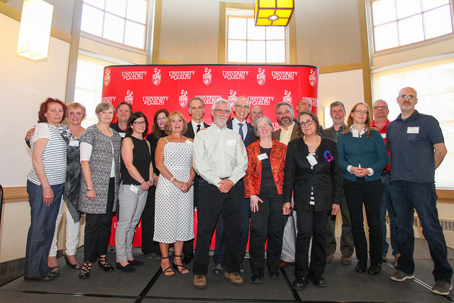 Image of Faculty and Staff who are being recognized for 25 years of service in 2018