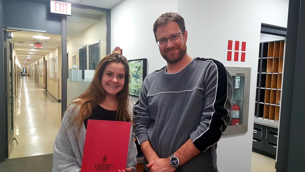 Marie Gutgesell and Ryan Gregory, Chair of IB