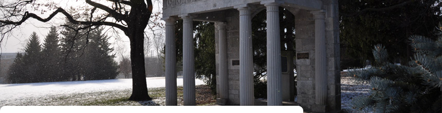 portico in winter