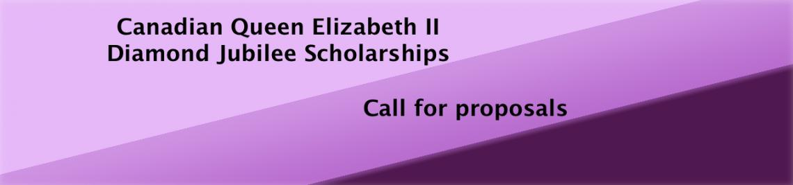 Text: Canadian Queen Elizabeth II Diamond Jubilee Scholarships