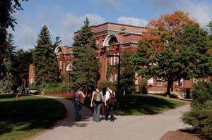 Students at Richards Building