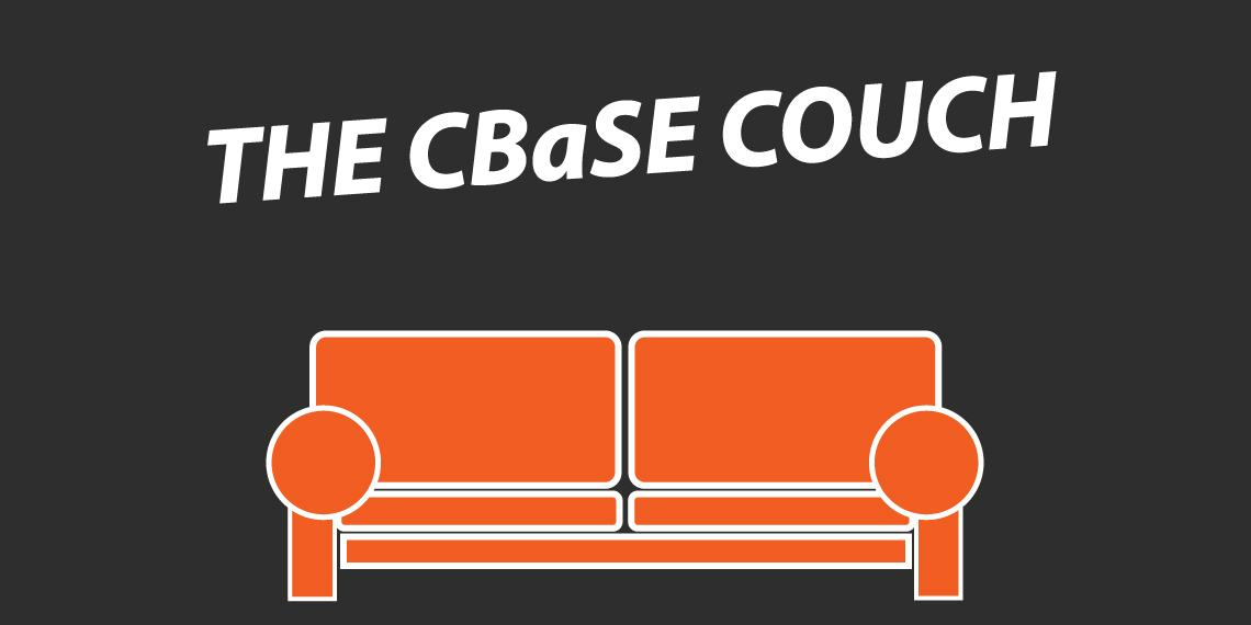 "Orange Couch and ""CBaSE Couch"" above"