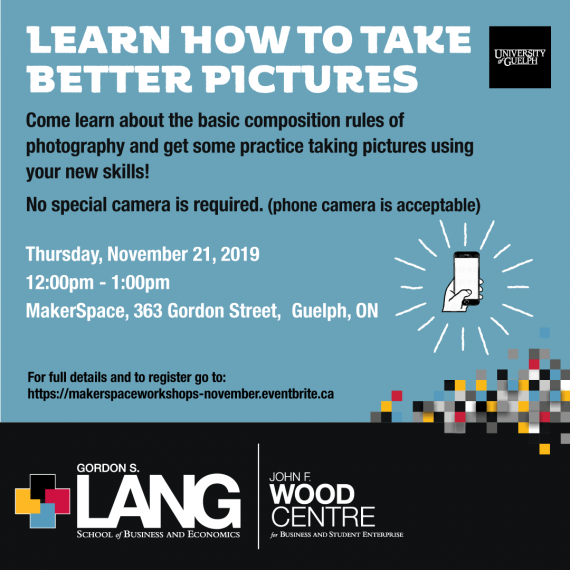 Workshop poster on how to take better pictures