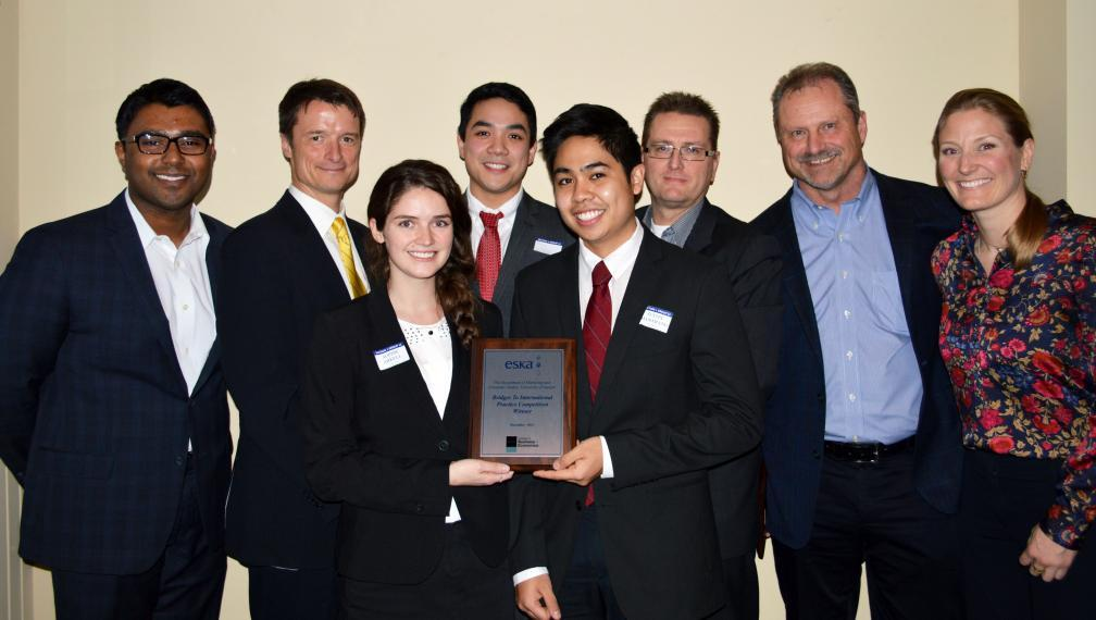 Case competition winners and judges