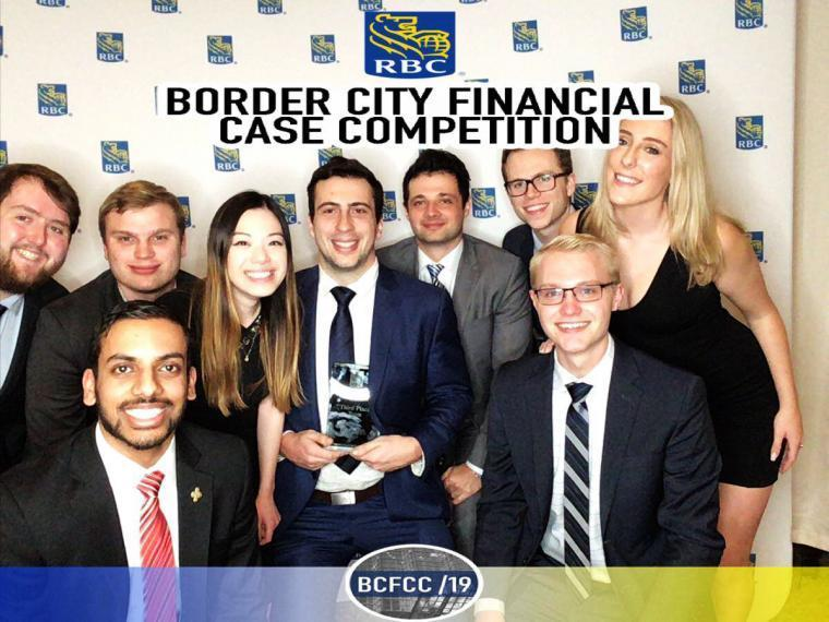 U of G business students at event