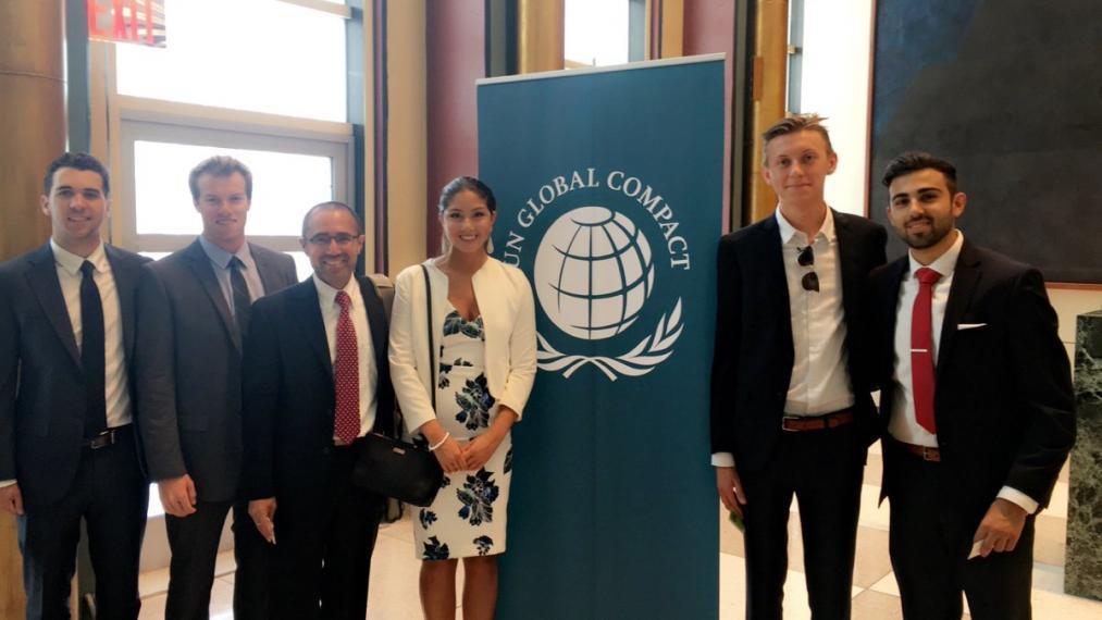 University of Guelph students attend the UN Global Compact Leaders Summit in NYC