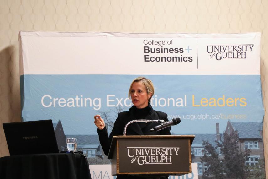 Samantha Nutt speaking