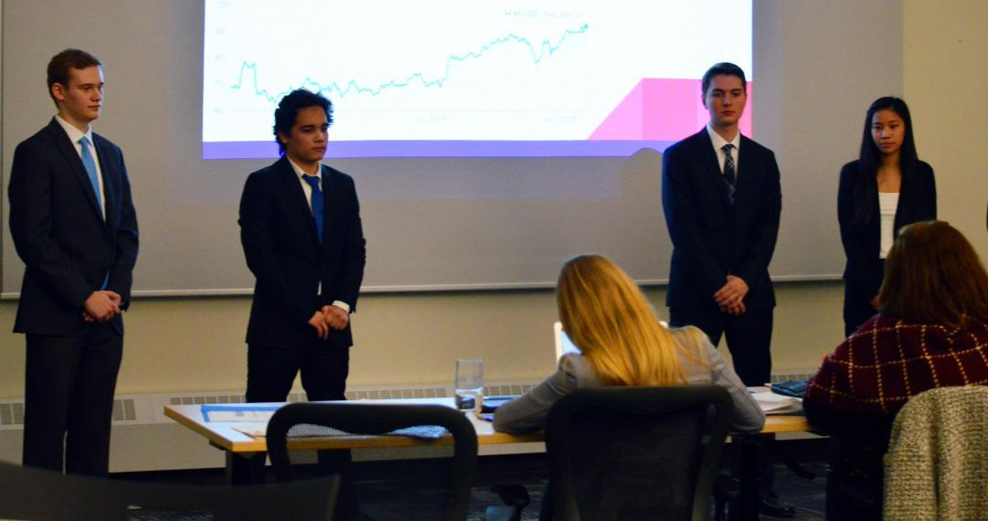 Students presenting at the Great Ethical Dilemma