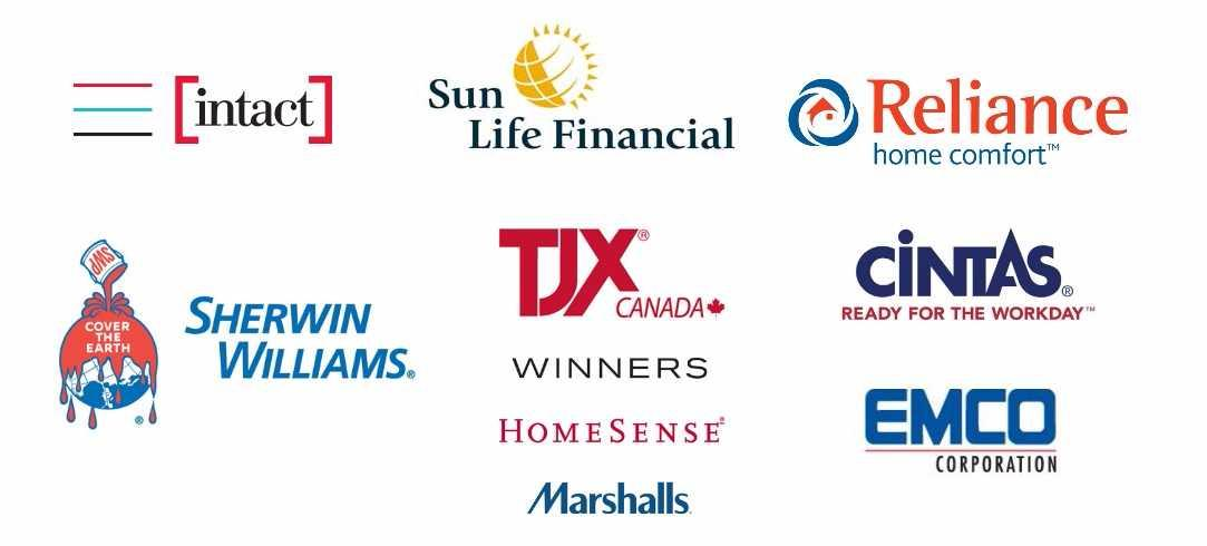 Confirmed employer logos