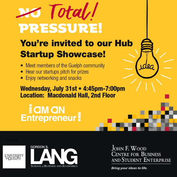 Total Pressure! You're invited to the Hub Startup Showcase