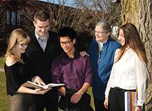 Photo of Jane Londerville and students