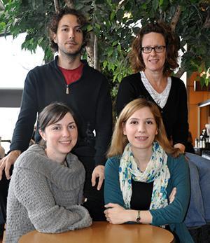 Photo of PhD students Eric Harvey, Rita Hansen Sterne, Anahita Khazaei, Collette Ward