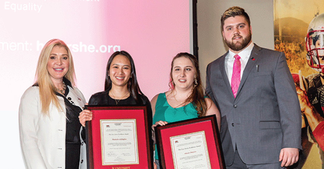 2019 award winners of HeForShe event