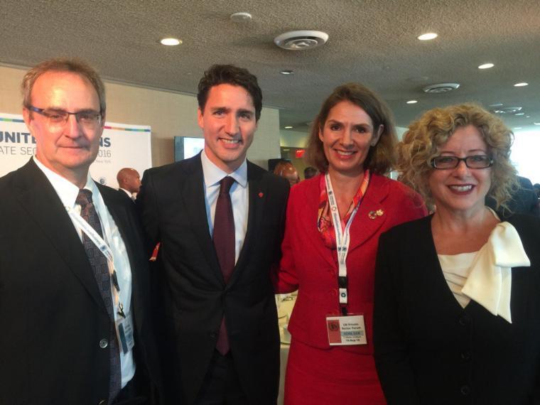 Julia Christensen Hughes with Justin Trudeau