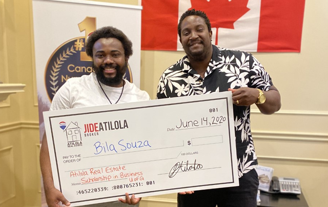 Photo of Scholarship Winner and Jide Aitola