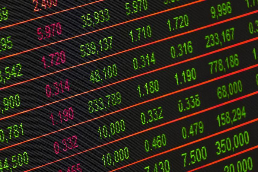 Photo of stock exchange board