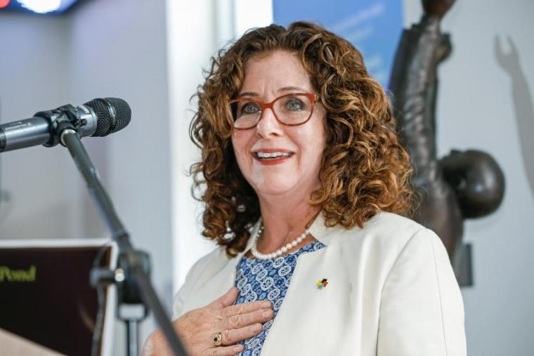 Julia Christensen Hughes at farewell event