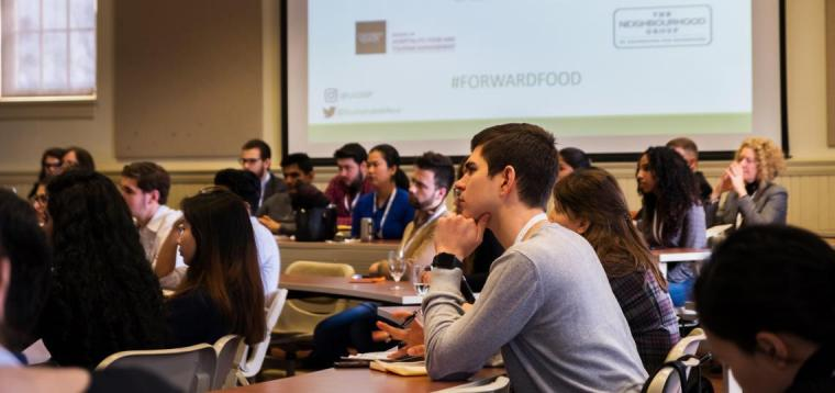 Students at the Forward Food conference