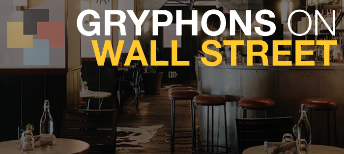 Text reads Gryphons on Wall Street