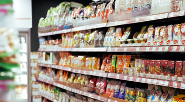 Photo of grocery story shelves