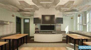 Rendering of the new food lab