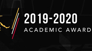 Photo of gryphon logo with text to the right reading 2019-2020 awards