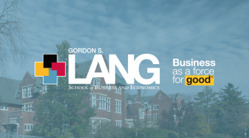 lang school logo w/ business as a force for good