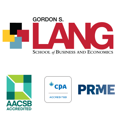 lang logo and aacsb, prme and cpa accredited logos