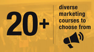 20+ diverse marketing courses to choose from