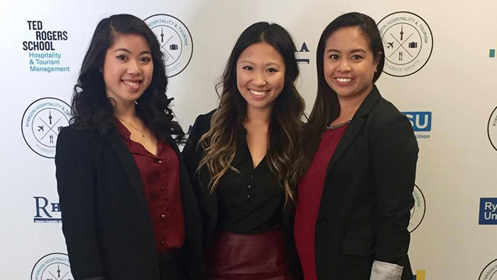 Karen with her teammates at the case competition