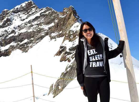 Lauren Chan in Switzerland for a co-op placement
