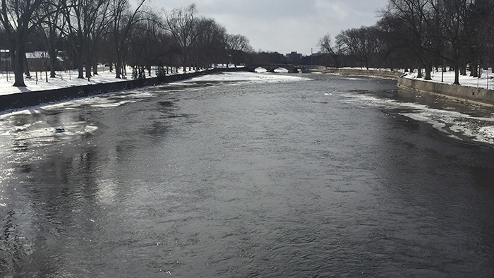 The speed river in winter