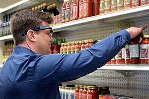 The Food Retail Lab uses eye-tracking equipment to examine consumer behaviour
