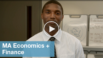 Link to YouTube video for MA Economics + Finance