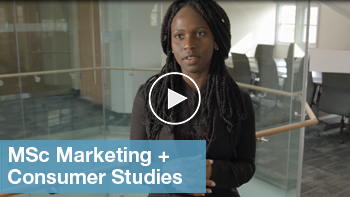 Link to YouTube video for MSc Marketing and Consumer studies
